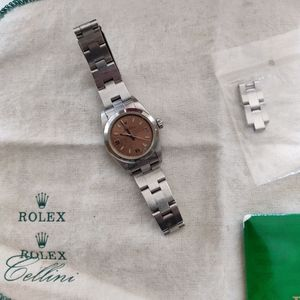Rolex Oyster Perpetual - Silver, Vintage 2001